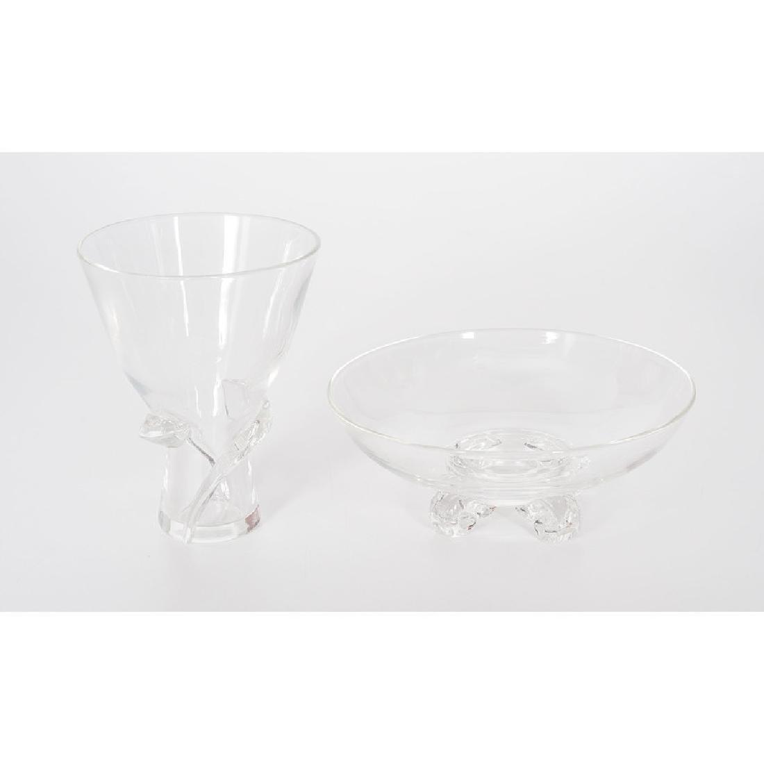 Steuben Crystal Vase and Bowl - 2