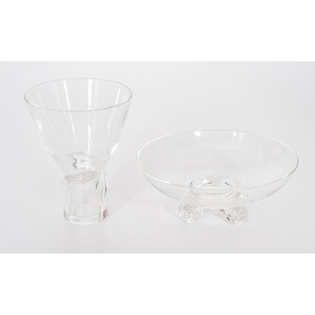 Steuben Crystal Vase and Bowl - 3
