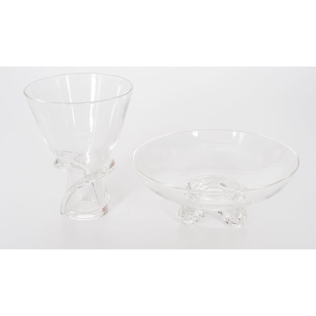 Steuben Crystal Vase and Bowl - 4