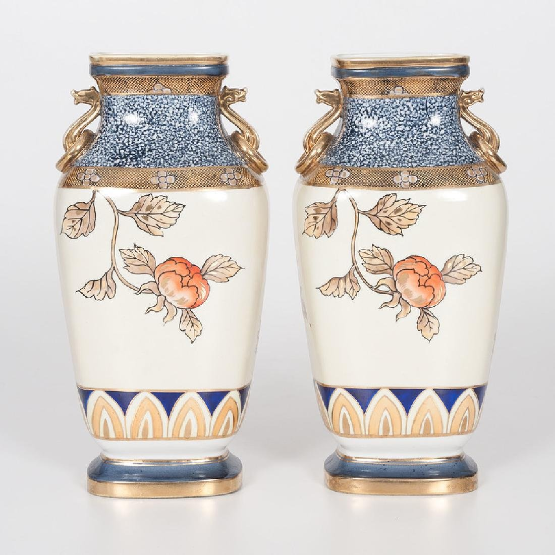 Noritake Hand-Painted Vases - 3