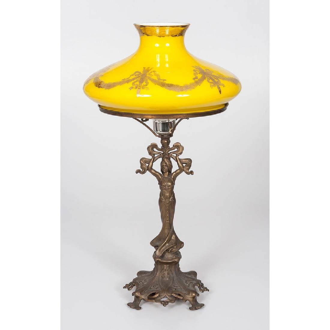 Antique Lamp with Victorian shade