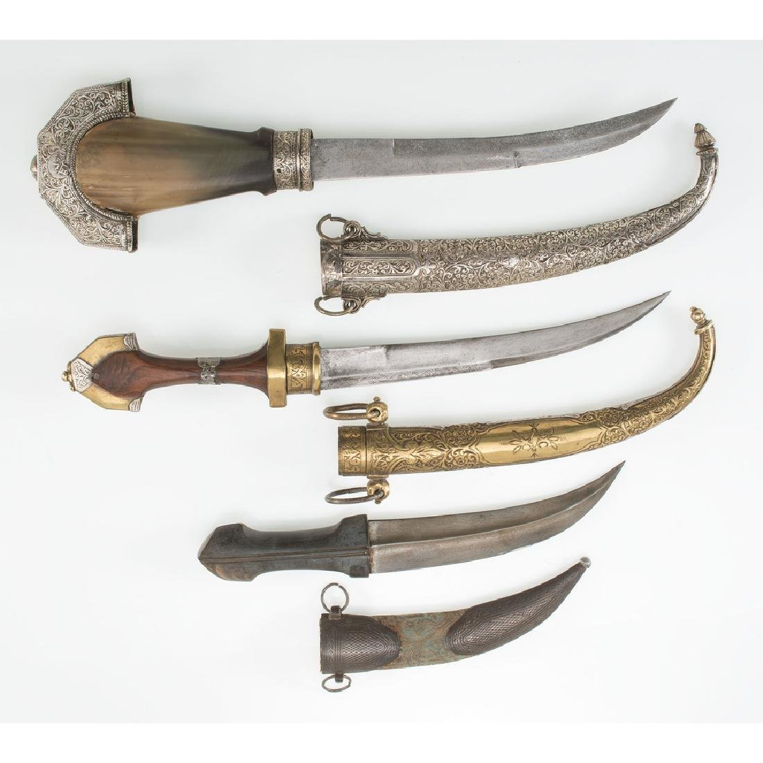 3 Curved Blade Moroccan Daggers