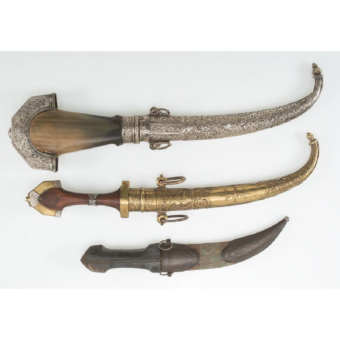 3 Curved Blade Moroccan Daggers - 2