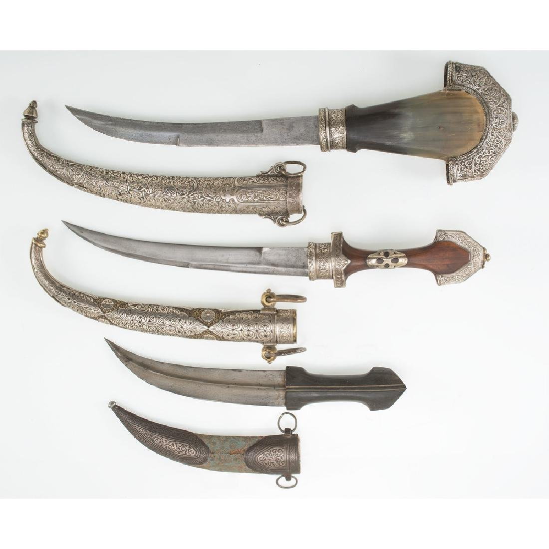 3 Curved Blade Moroccan Daggers - 3