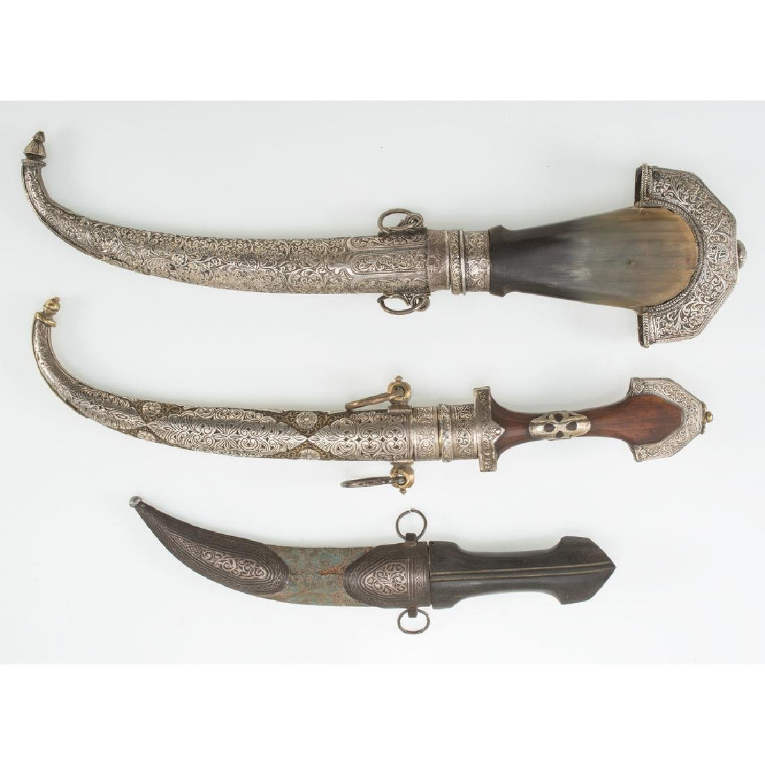 3 Curved Blade Moroccan Daggers - 4