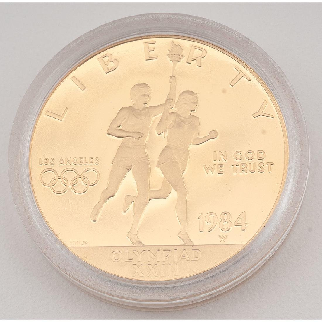 United States Los Angeles Olympiad Commemorative Gold