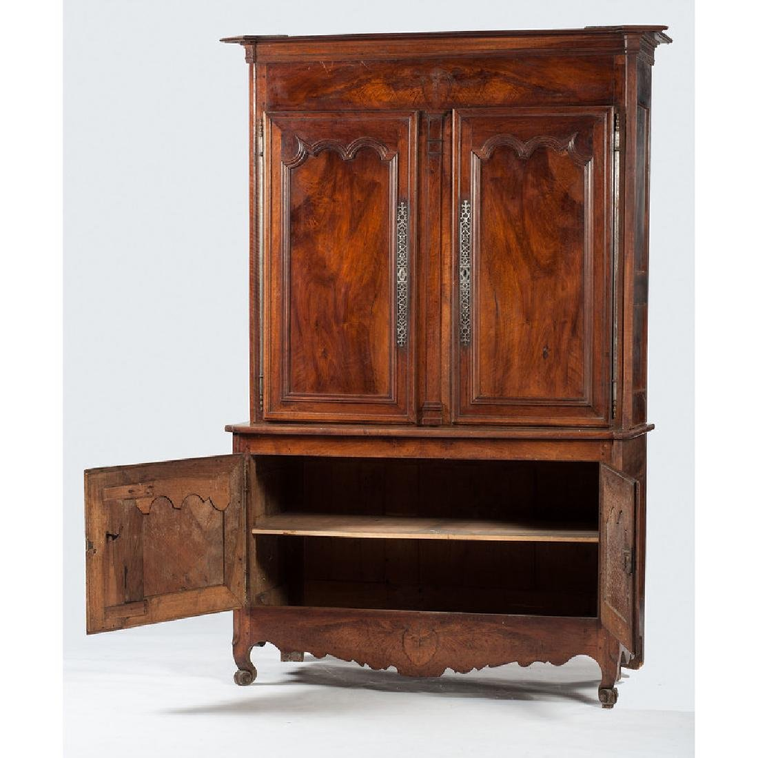 French Provincial Buffet-a-Deux Corps - 2