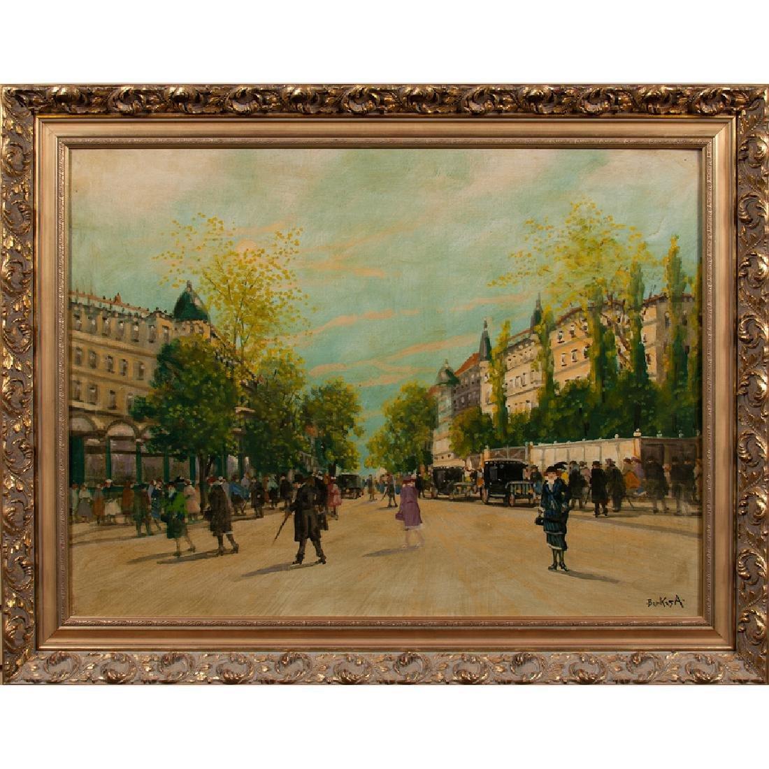 Antal Berkes (Hungarian, 1874-1938) Oil on Canvas - 2