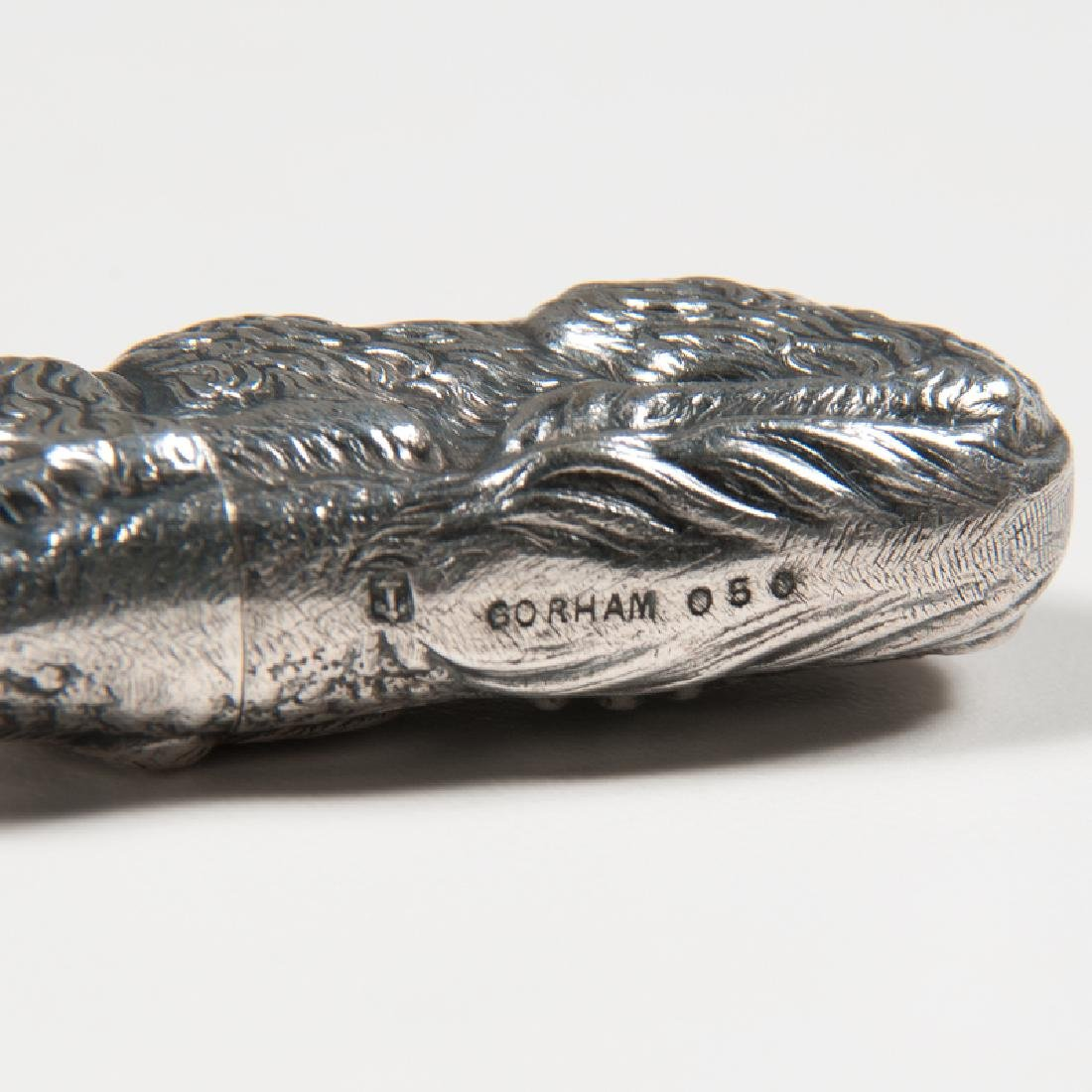 Gorham  Silverplated Figural Dog Match Safe - 3