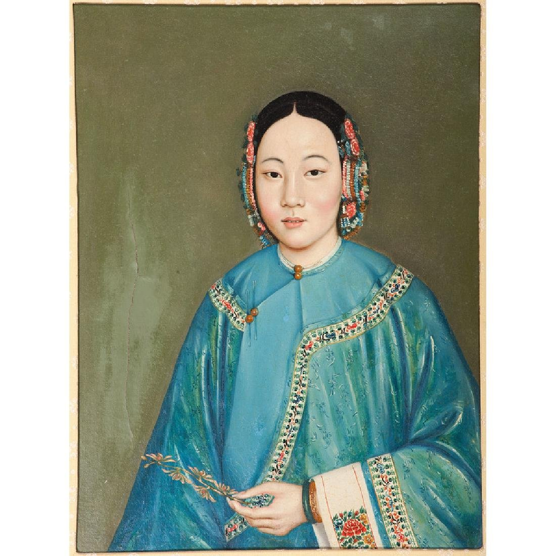 Late Qing Portrait of a Woman - 2