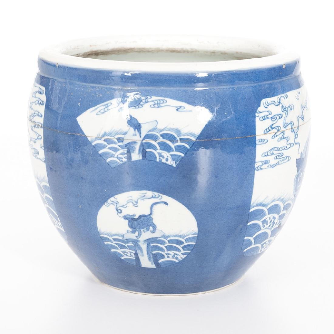 Chinese Porcelain Blue and White Jardiniere - 4