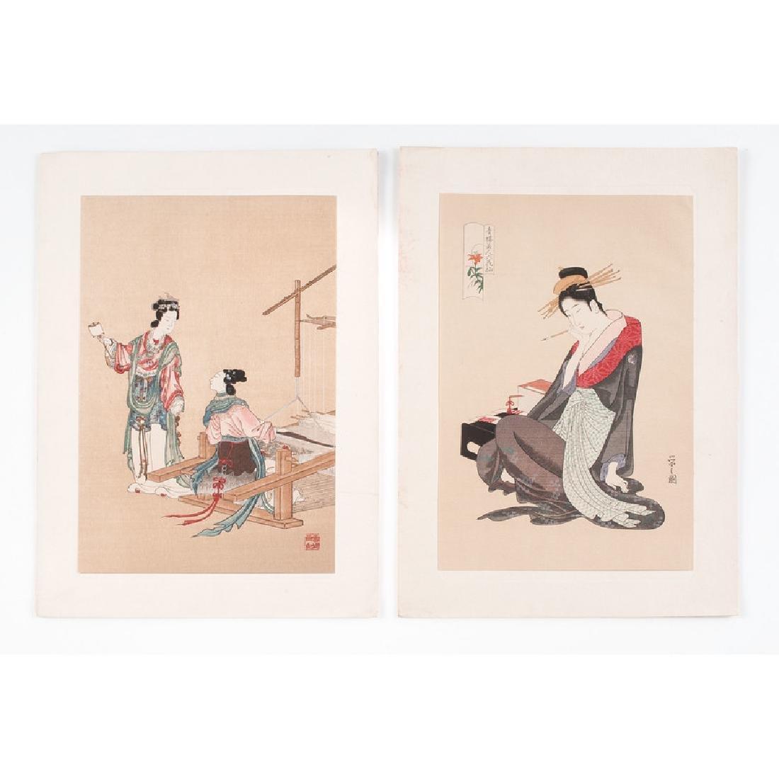 Assorted Japanese Woodblock Prints, Plus - 2