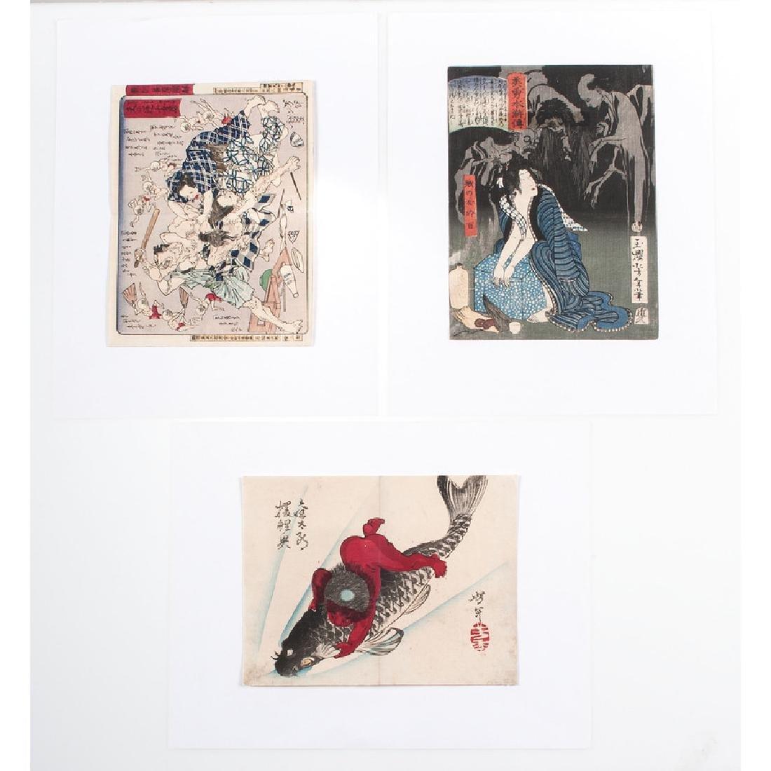 Assorted Japanese Woodblock Prints, Plus - 3