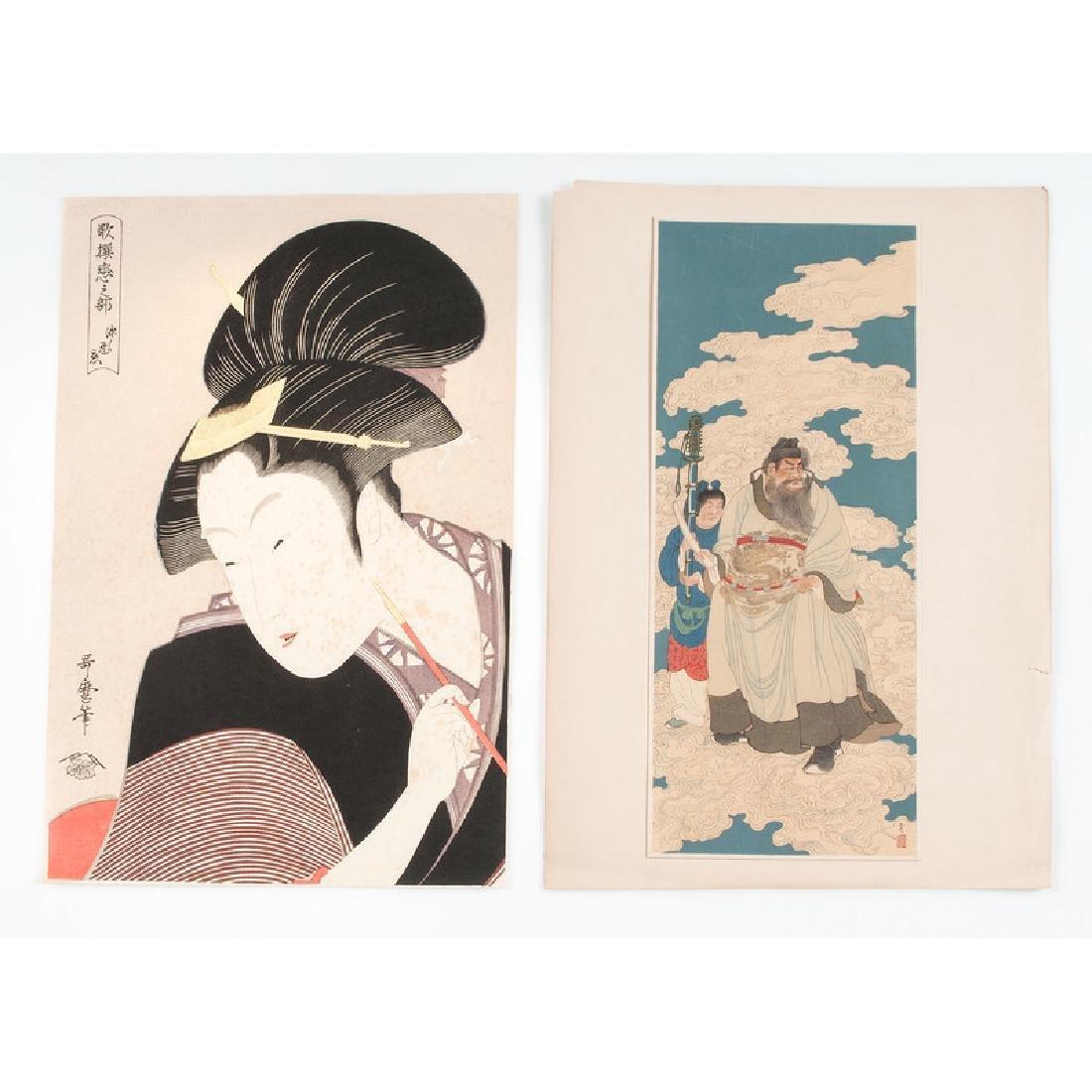 Assorted Japanese Woodblock Prints, Plus - 9
