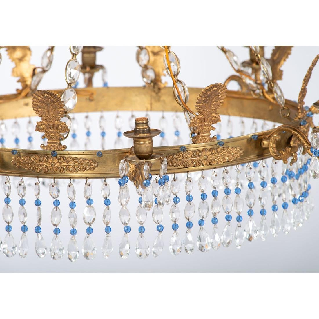 Continental Crystal and Gilt Chandelier - 2