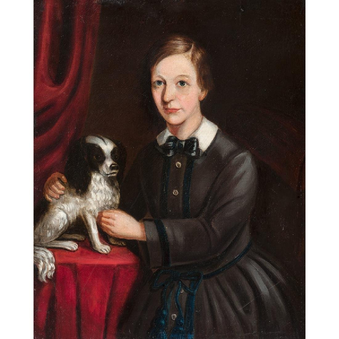 American School, 19th Century Portrait of a Child with - 2