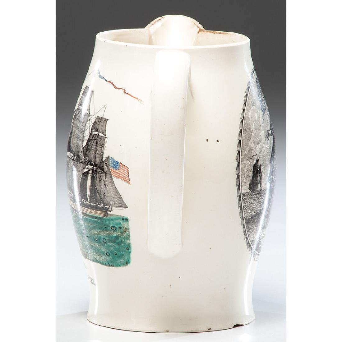 The Two Brothers Liverpool Creamware Jug - 4