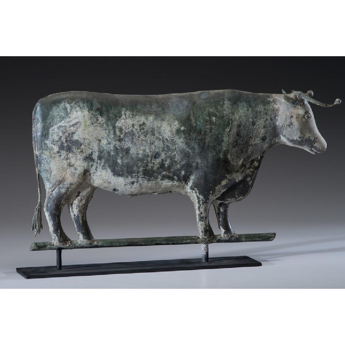 Copper Steer Weathervane - 2
