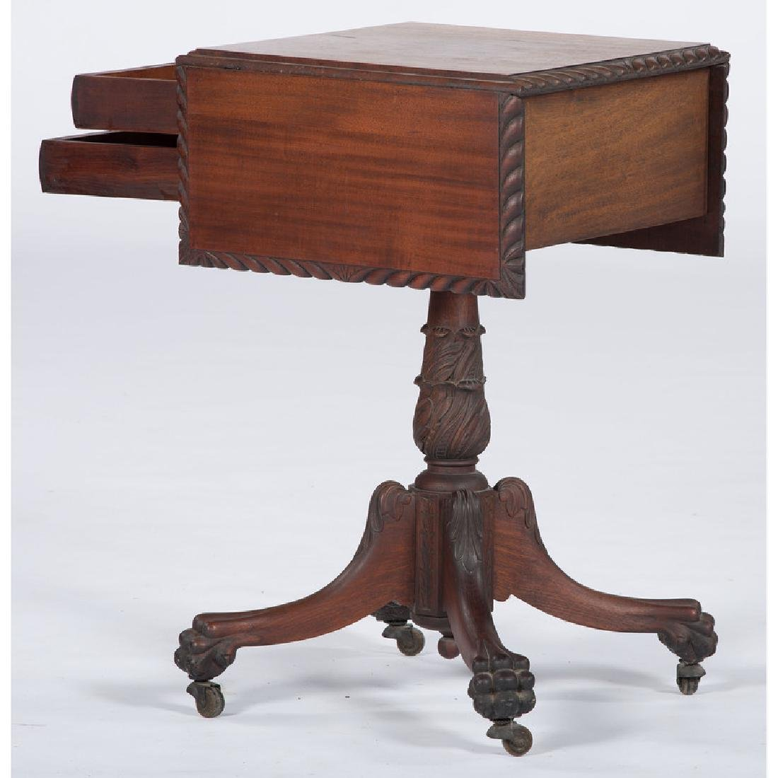 Classical Carved Mahogany Sewing Stand - 3