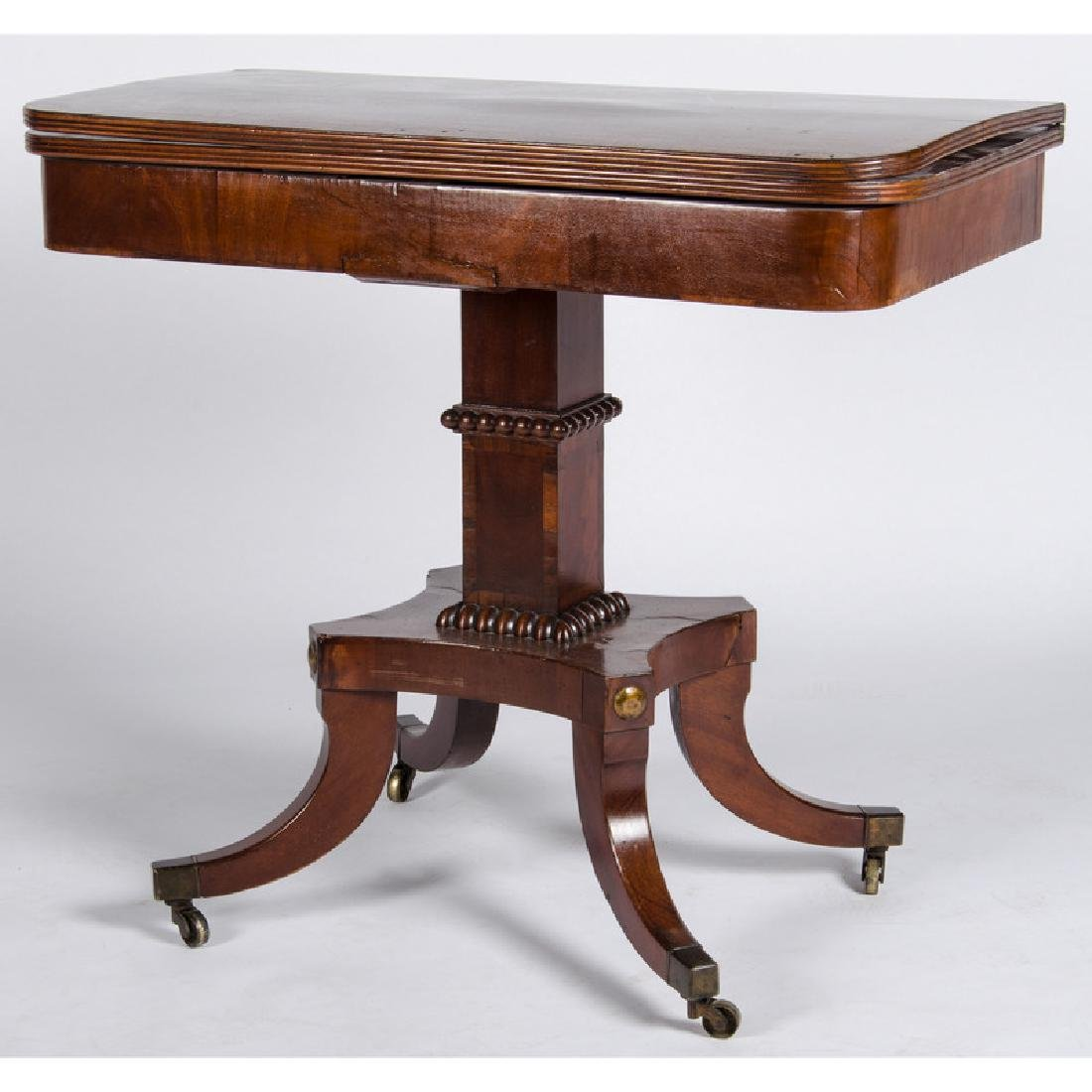 Classical Mahogany Game Table - 2