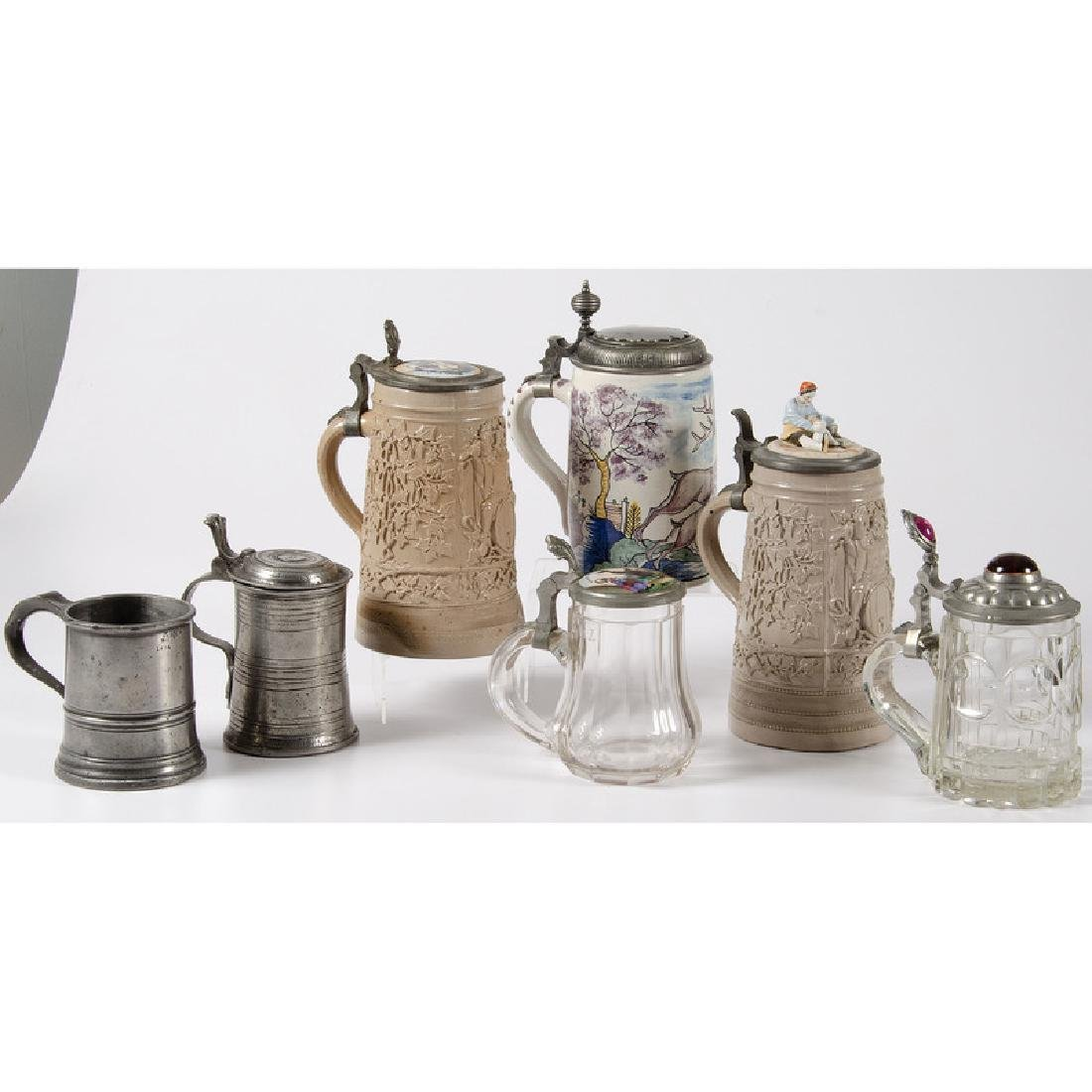 Ceramic, Glass and Pewter Steins - 2