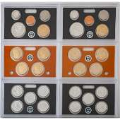 United States Mint Silver Proof Sets 2011-2012, Lot of