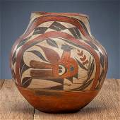 Acoma Four-Color Polychrome Pottery Jar, From The