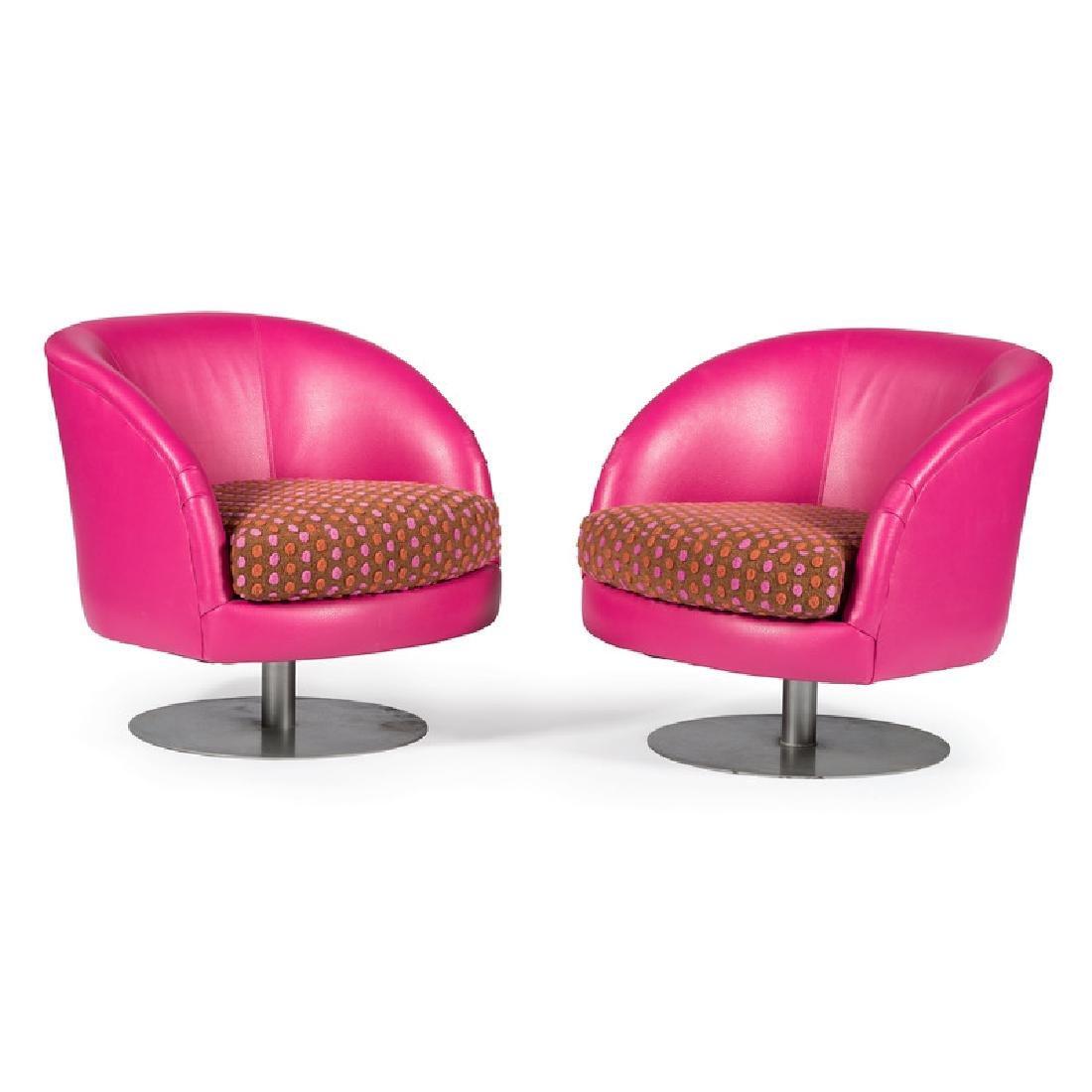 Custom Carter Swivel Club Chairs