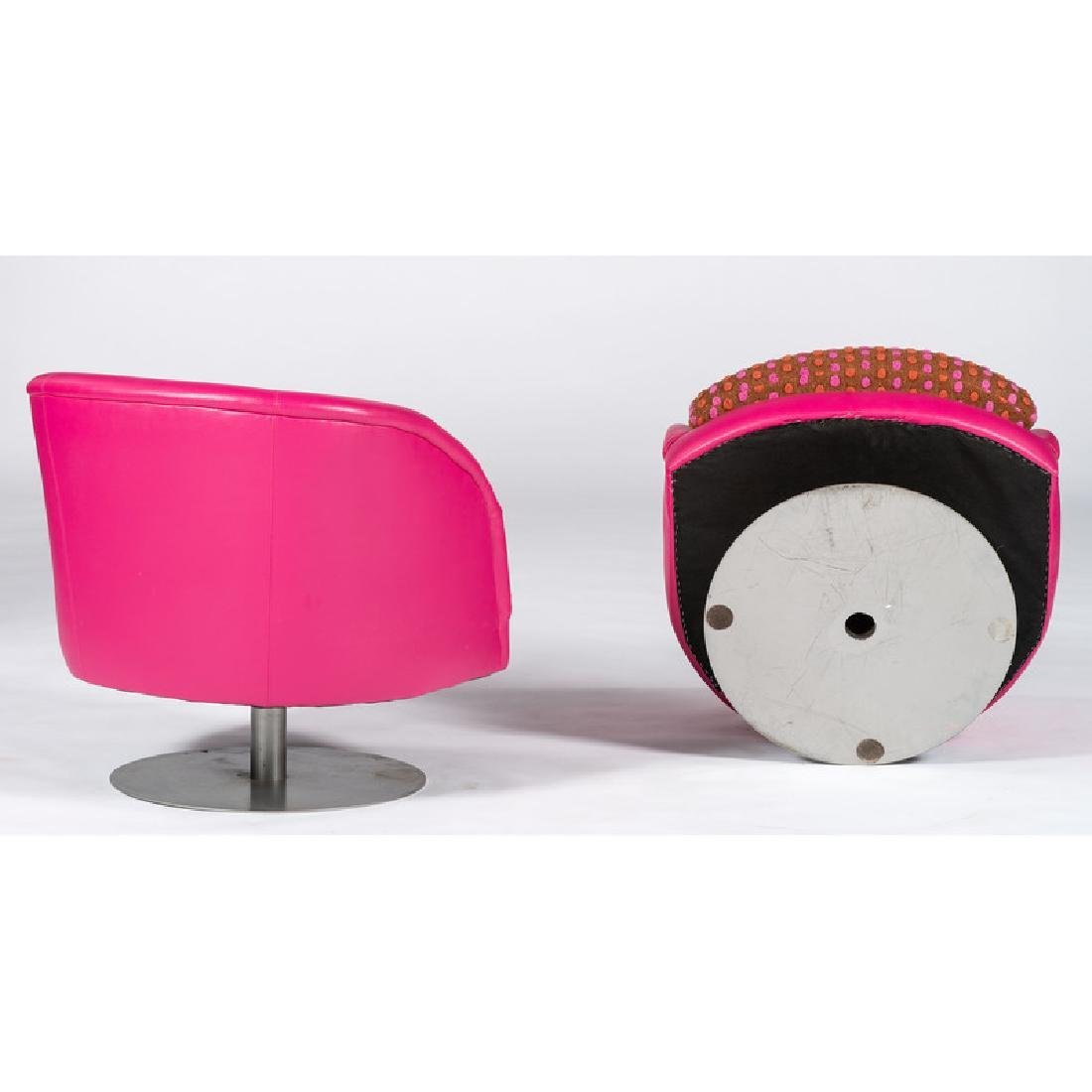 Custom Carter Swivel Club Chairs - 2