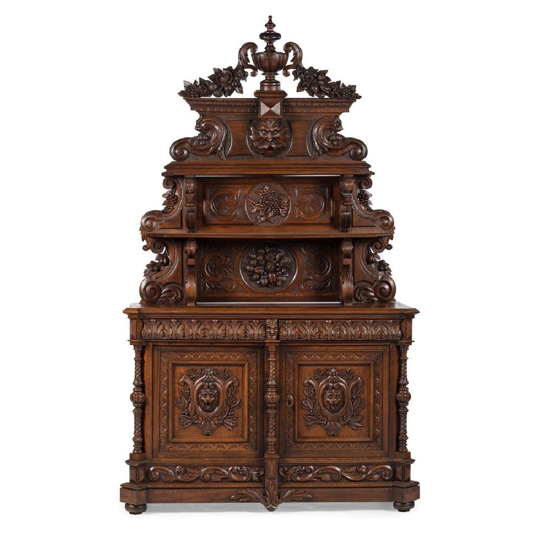 Monumental Renaissance Revival-Style Carved Sideboard