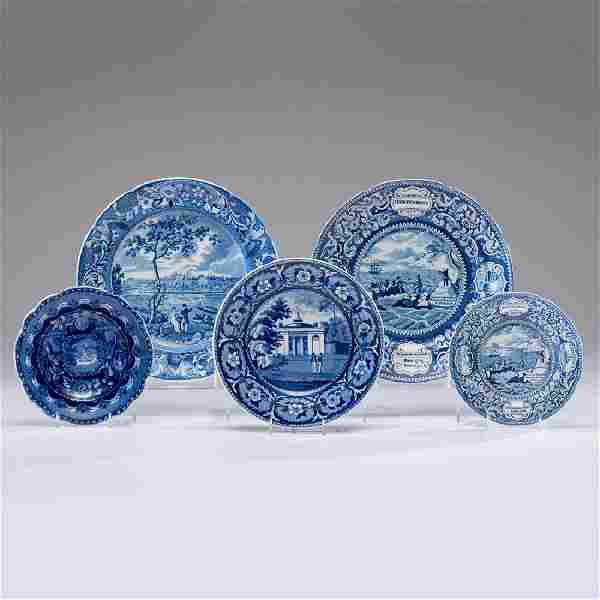 Historical Blue Staffordshire of American Interest