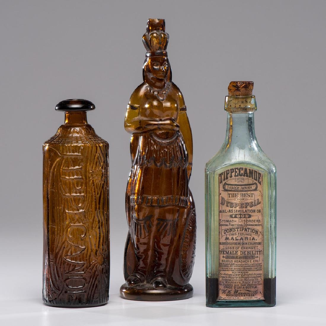 American Bitters and Elixir Bottles for Brown's and