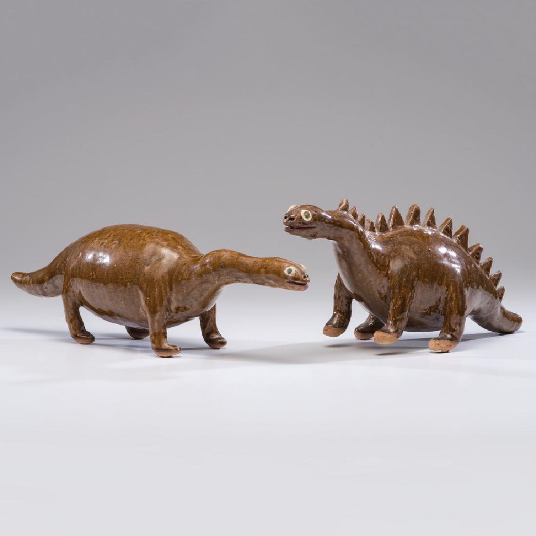 Reggie Meaders Stoneware Dinosaurs