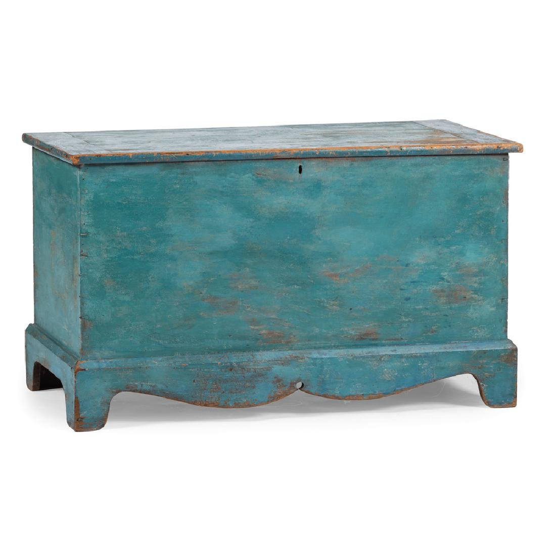 Pine Blanket Chest in Blue Paint