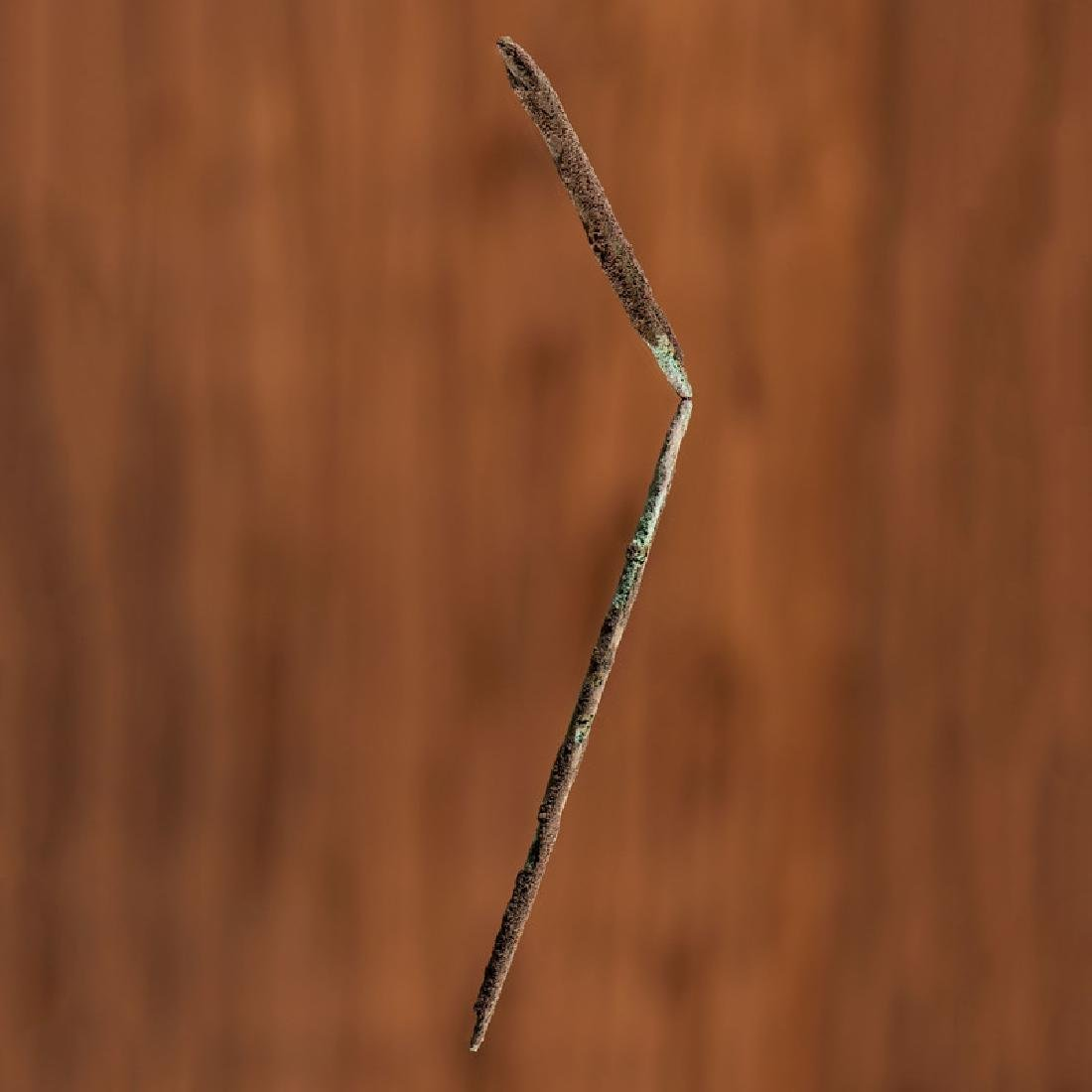 An Old Copper Culture Long Hairpin,