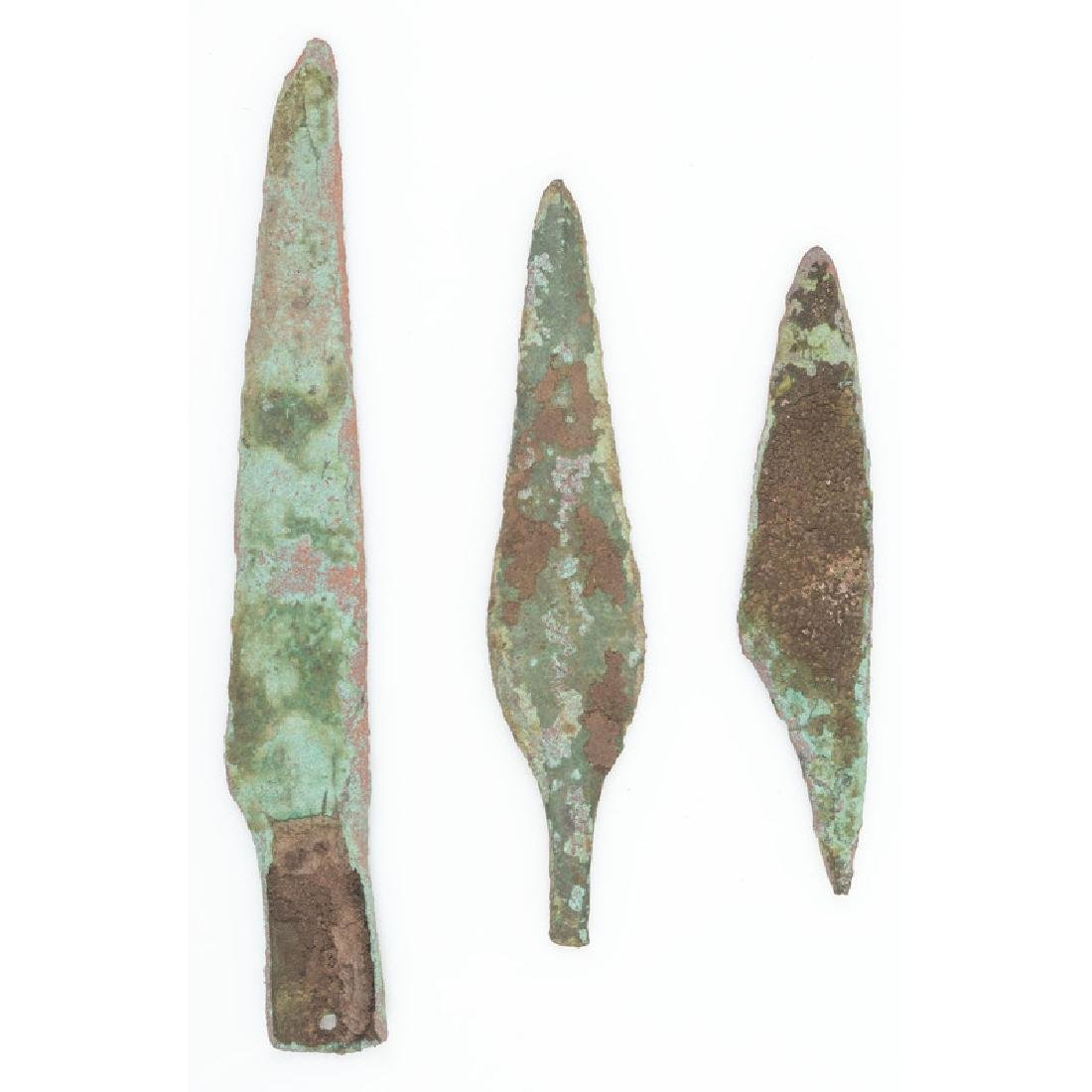 Three Old Copper Culture Spear Points