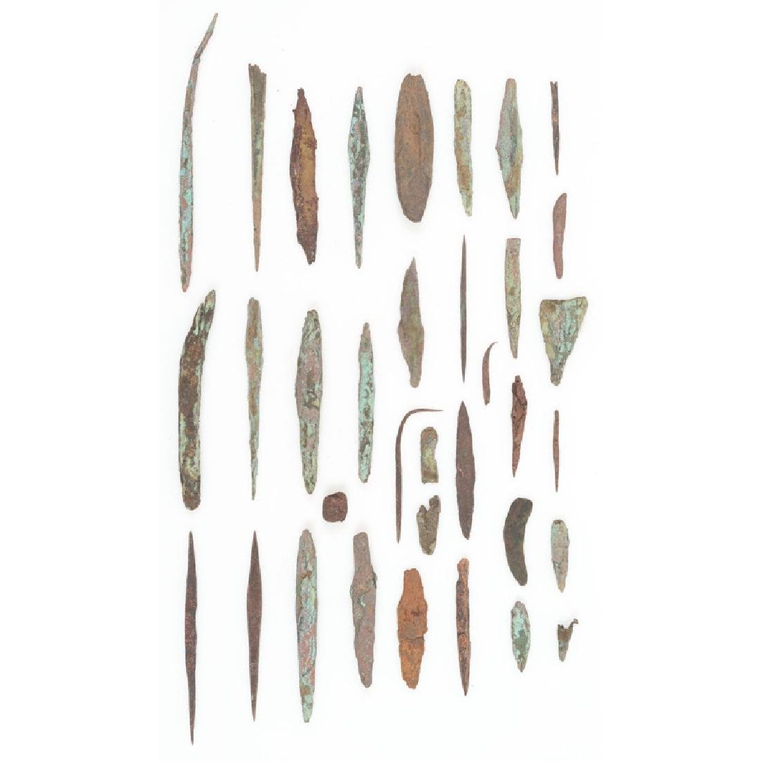 A Collection of Old Copper Culture Tools,