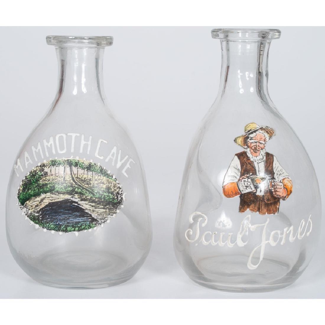 Glass Pinch Bottles, Mammoth Cave and Paul Jones