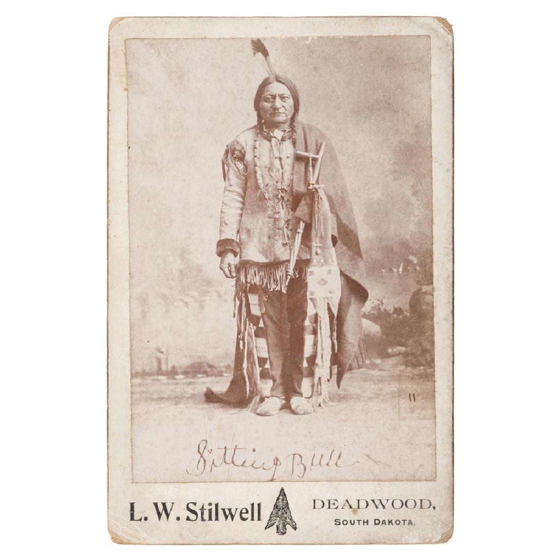 Sitting Bull Cabinet Card by L.W. Stilwell