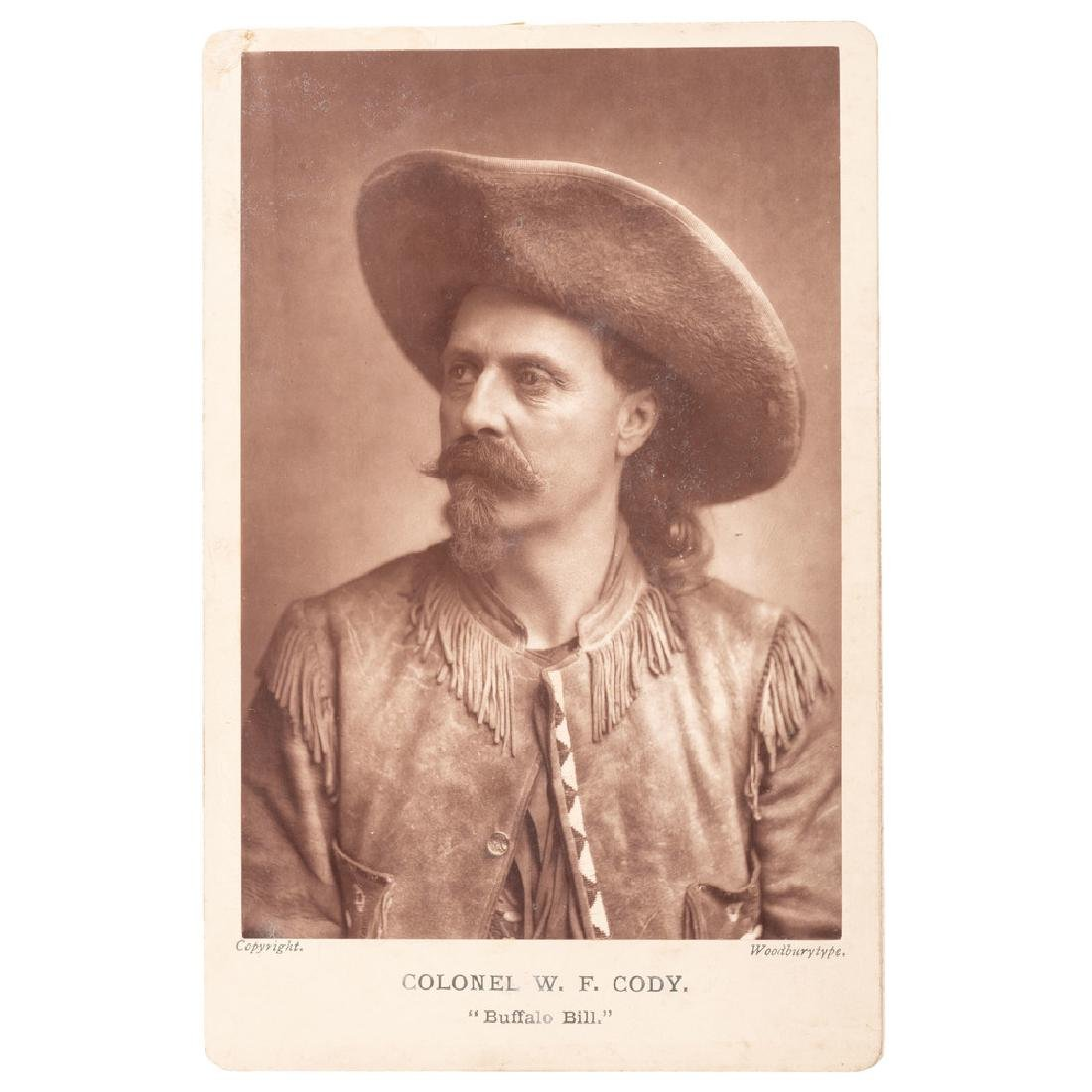 Buffalo Bill Cody Woodburytype Cabinet Card by Elliott