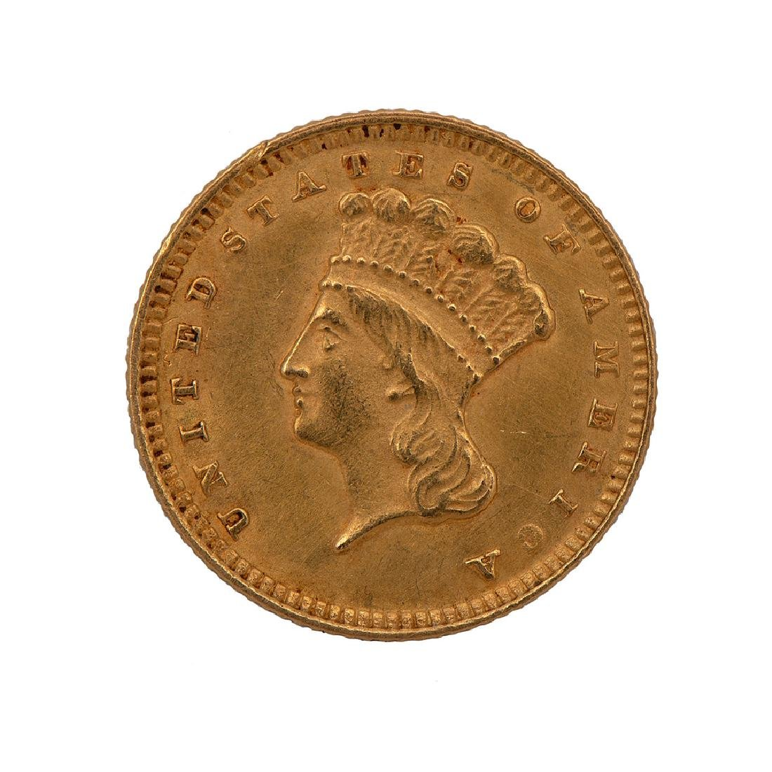 United States Indian Head Gold Dollar 1874