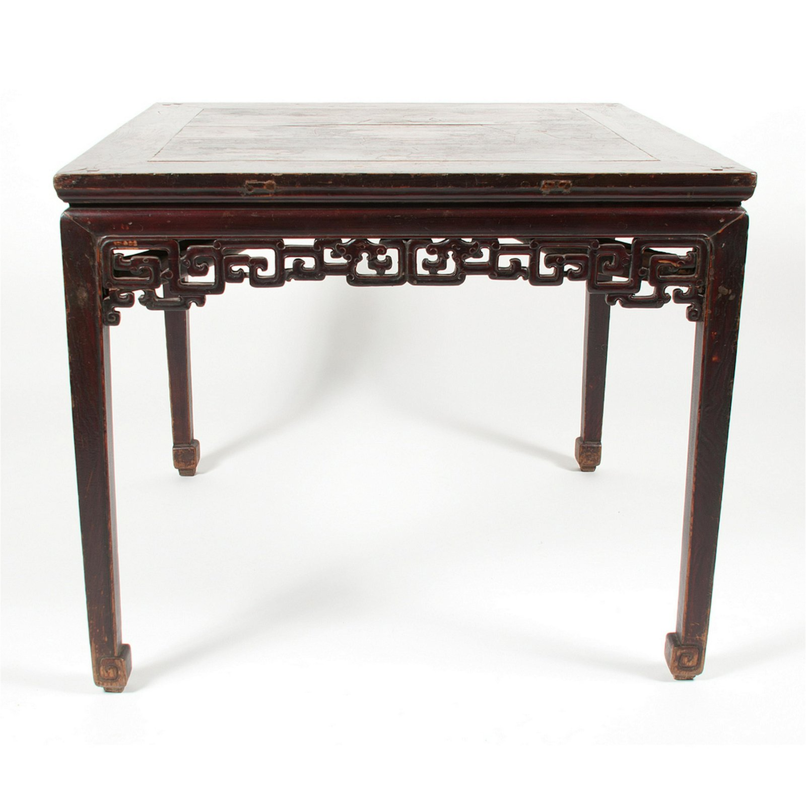Lacquered Elmwood Square Table