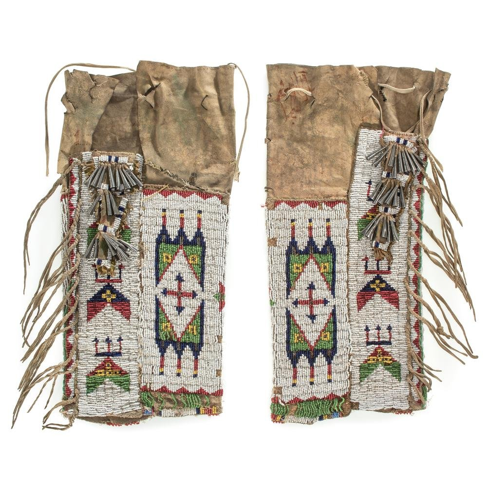 Sioux Beaded Hide Leggings, From the James B. Scoville
