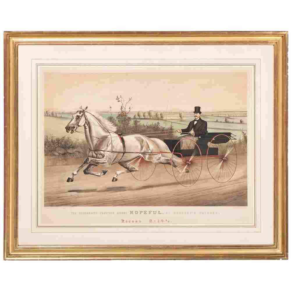 Currier and Ives Hand-Colored Lithograph, The