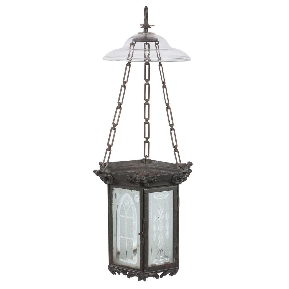 Gothic Etched Glass Hall Lantern