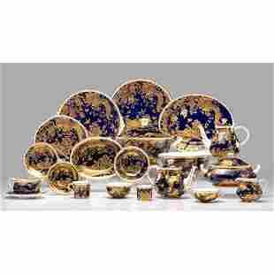 Royal Crown Derby Porcelain Service, Gold Aves