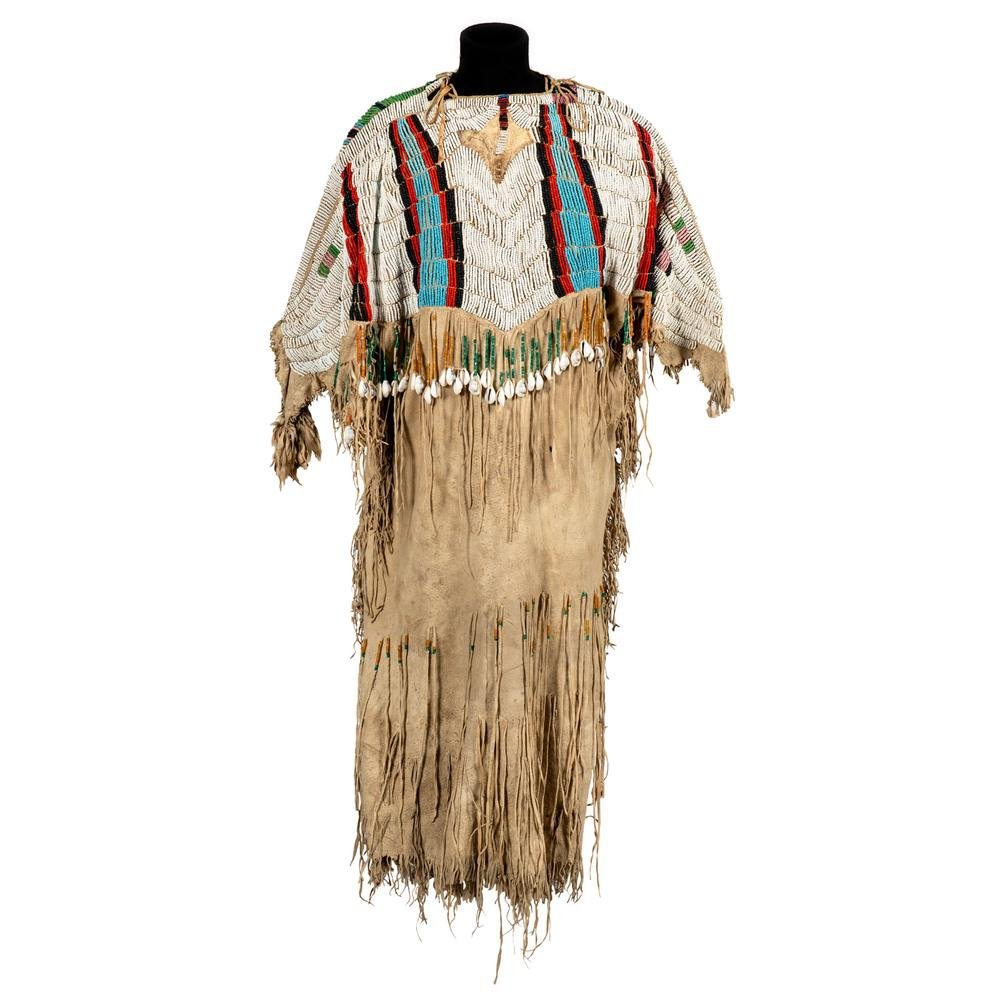 Nez Perce Pony Beaded Hide Dress, From the Stanley B.