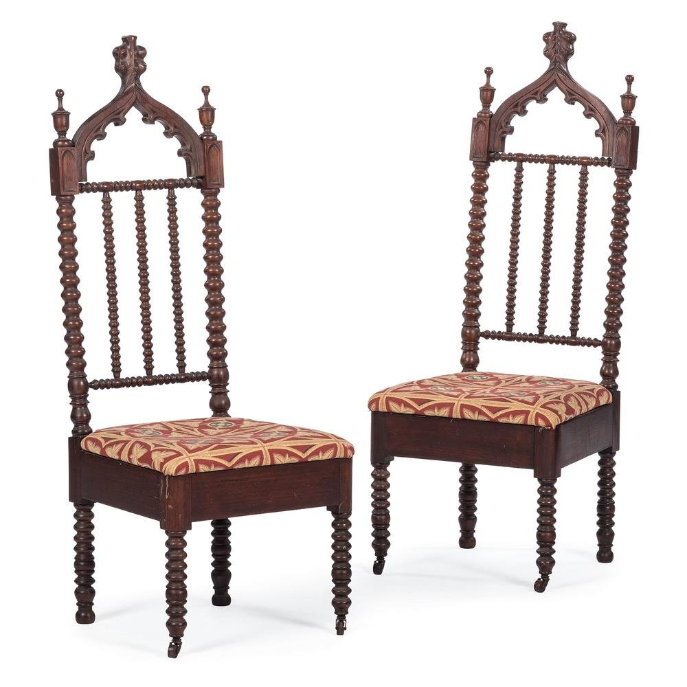 American Victorian Gothic Side Chairs
