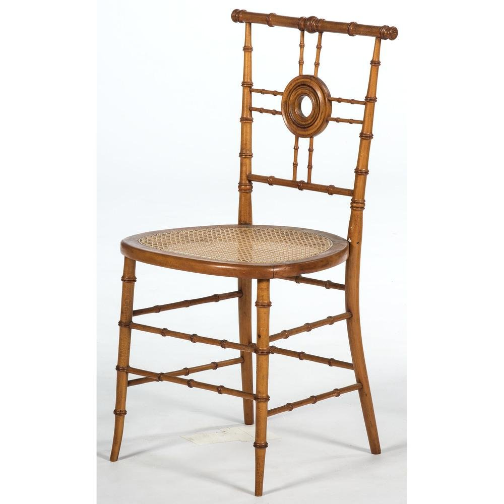 American Aesthetic Movement Faux Bamboo Side Chair