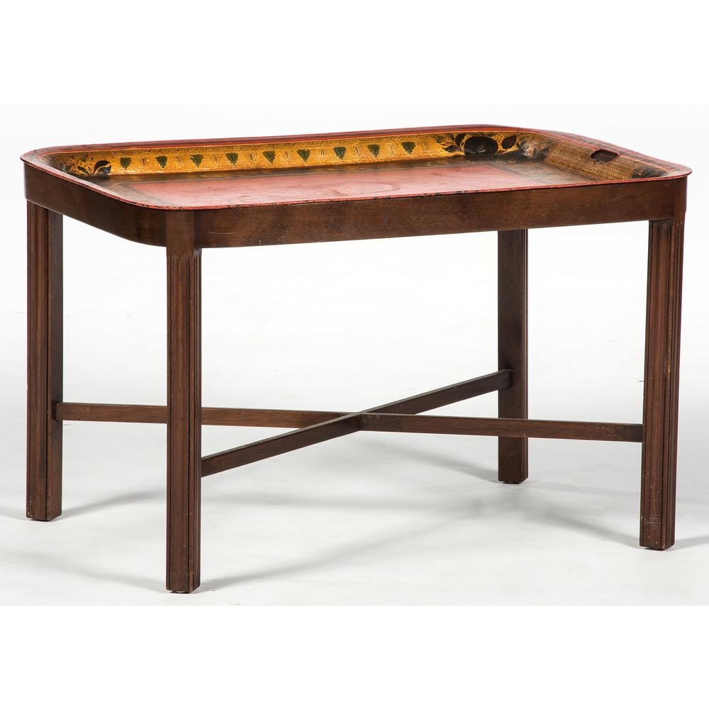 Table with Tole Tray Top
